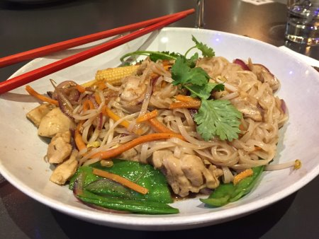 Delicious gluten free stir fry from Asian Kitchen, Cowes, Phillip Island