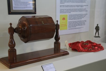 Cedar National Service Lottery barrel