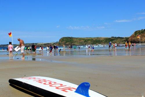 Popular Smiths Beach on Phillip Island.