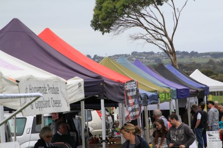 Browsing at Churchill Island Farmers Market, one of the most popular of Phillip Island markets