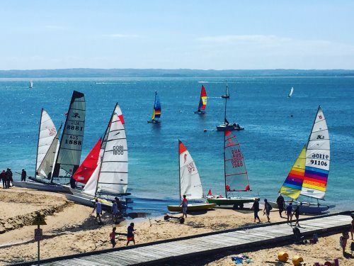 Preparing to race at Cowes Yacht Club, Phillip Island