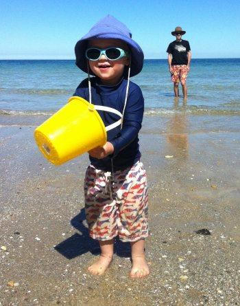 Slip, slop, slap at the beach!