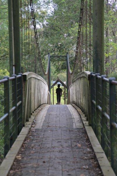 Suspension bridge at Loch, Gippsland