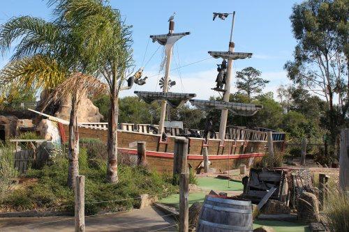 Mini golf at Pirate Pete's, Maru Animal Park