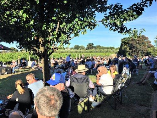Music fans enjoying Music at The Hen at Purple Hen Winery, Phillip Island