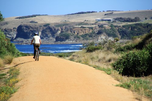Approaching Kilcunda on the Bass Coast Rail Trail