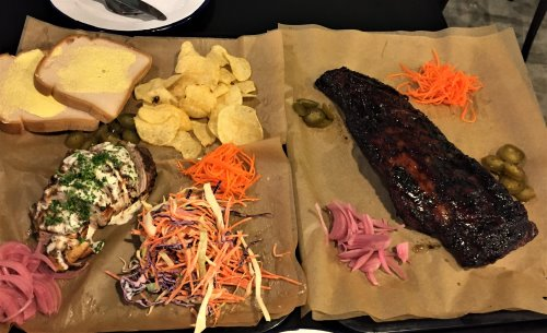 BBQ plate at Wight's American BBQ, Cowes