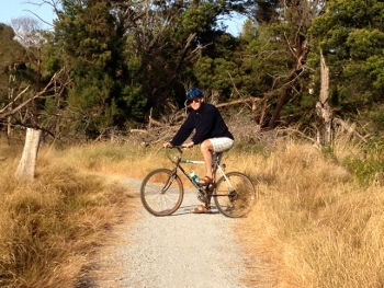Riding at Oswin Roberts Reserve