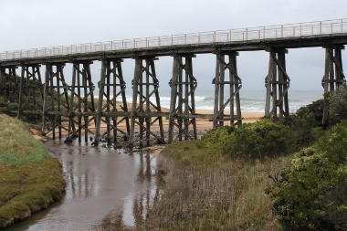 Kilcunda Trestle Bridge near the start of the Bass Coast Rail Trail