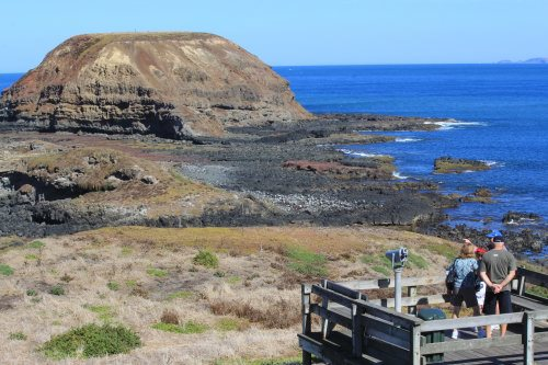 View to The Nobbies at low tide, Phillip Island