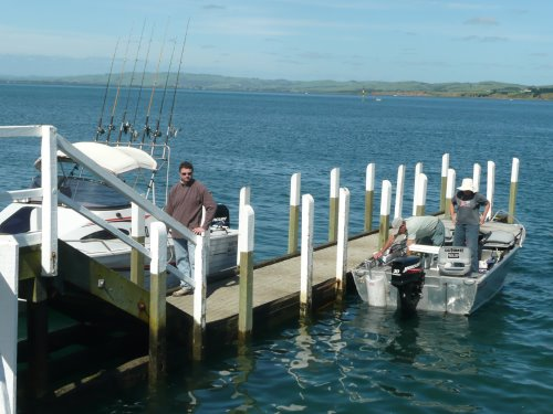 Getting ready for a fishing trip at Phillip Island