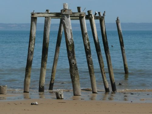 Old jetty at Flynns Beach