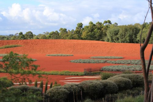 Red sand garden at Australian Garden, Cranbourne