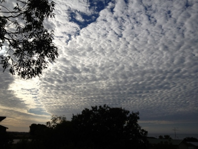 Cloud formation over Phillip Island